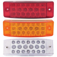 Rectangular LED Clearance Marker Light - Red, Amber, Clear Lens