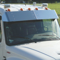 "Freightliner M-Class 13"" Crew Cab Drop Visor Close Up"