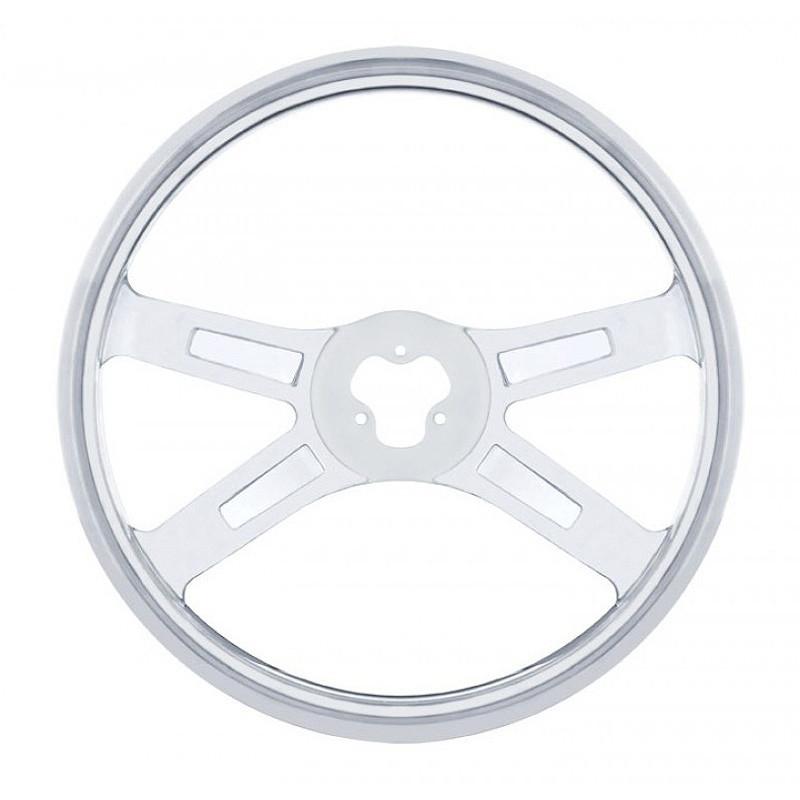 """Spider Stainless Steel 18"""" Steering Wheel"""
