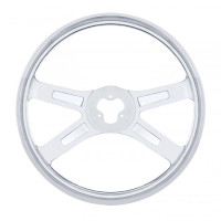 "Spider Stainless Steel 18"" Steering Wheel"