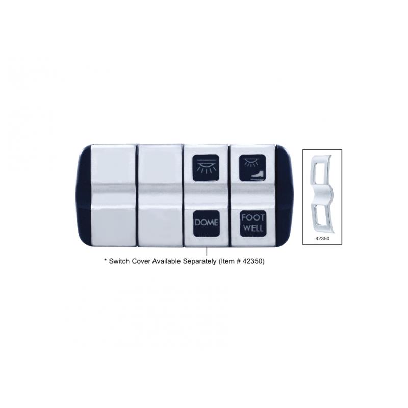 Freightliner Cascadia Chrome Blank Switch Insert