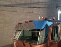 "Peterbilt 352 13"" Drop Visor 16 Gauge Stainless Steel"