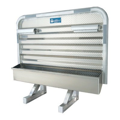 Dyna Light Security Headache Rack With Chain Racks & Full Bottom Tray