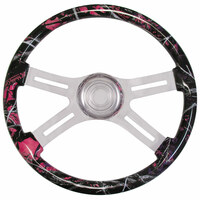 "Muddy Girl Camo 18"" Steering Wheel"