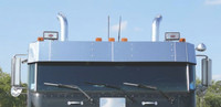 Peterbilt 362 Cabover Drop Visor Without Spotlight Cutouts By RoadWorks