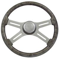 """Snake Skin Gray 18"""" Steering Wheel"""