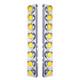 Peterbilt 379 389 Front Air Cleaner Light Bar With Amber Lens & Reflectors