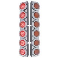 Peterbilt 379 389 Rear Air Cleaner Light Bar With 12 LEDs & Red Lens