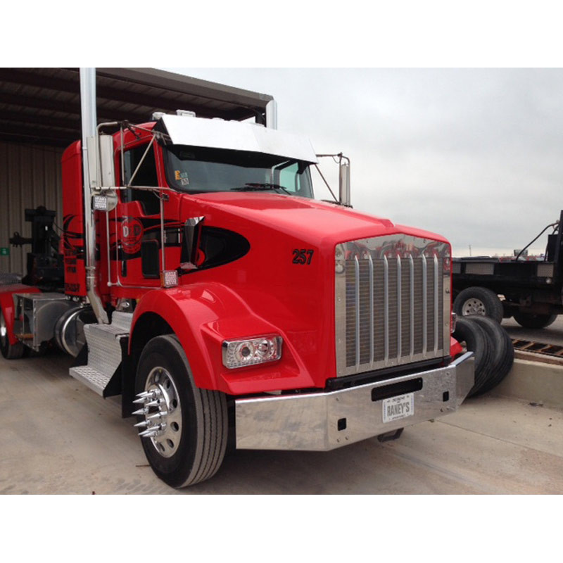 Valley Chrome Bumpers : Kenworth t chrome quot bumper tapered break back