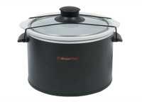 RoadPro Black 1.5 Quart Slow Cooker