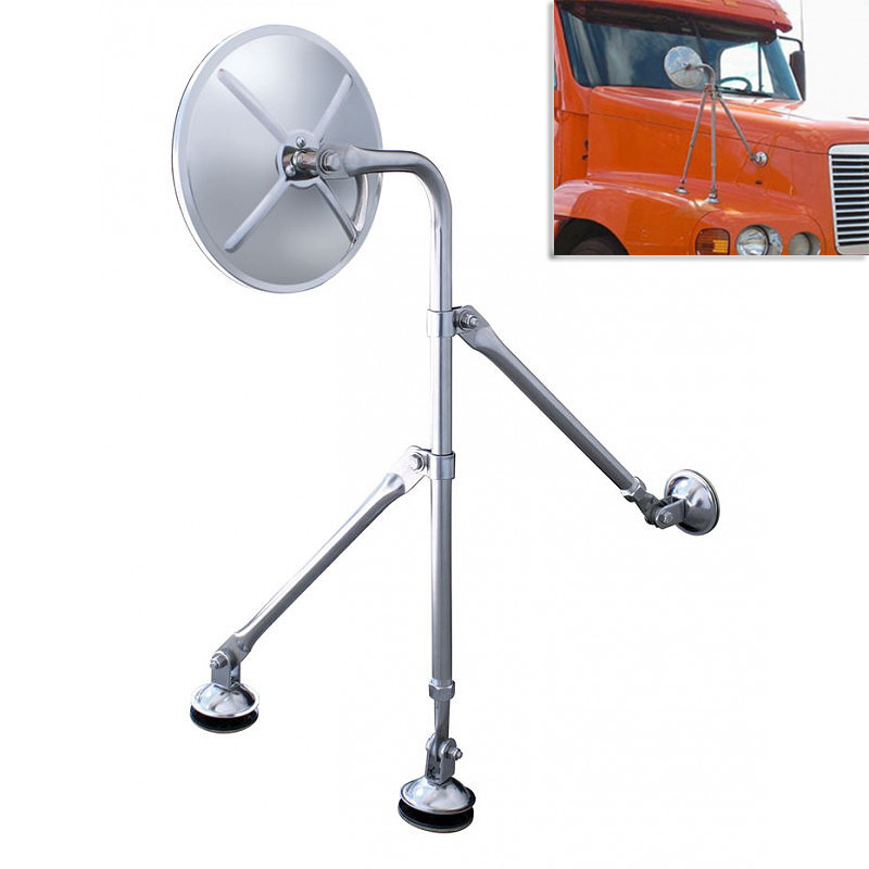 "8.5"" Stainless Steel Tripod Fender Mount Mirror"