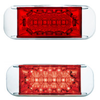 16 LED Rectangular Clearance Marker Light With Reflector