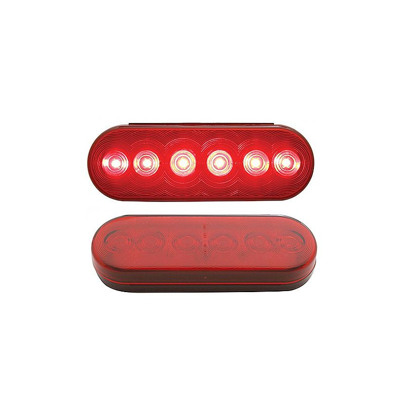 Red LED Oval Economy STT Light 6 Diodes - Red
