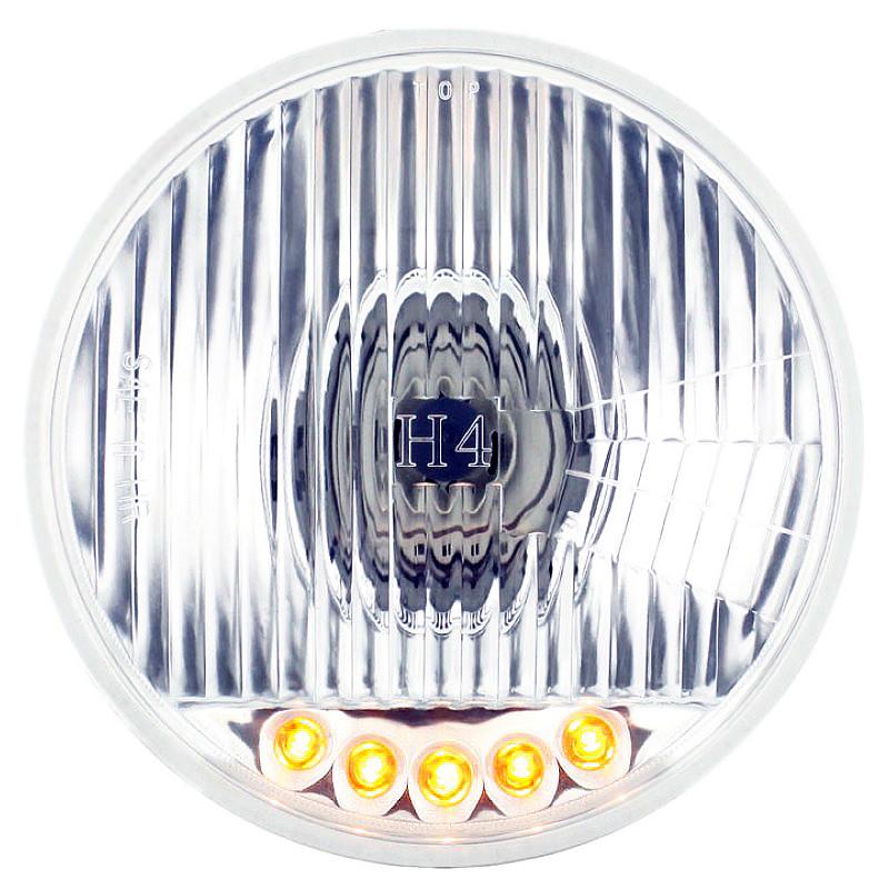 kenworth w900 headlights raney s truck parts 5 3 4 round crystal headlight bulb amber led
