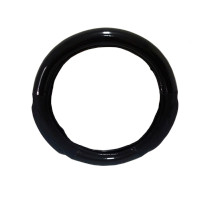 "18"" Memory Foam Grip Black Carbon Fiber Style Steering Wheel Cover"