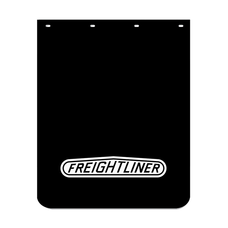 """Black Poly Mudflap With White Freightliner Logo 24"""" x 30"""""""