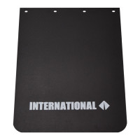 "Black Poly Mud Flap With White International Logo 24"" x 30"""