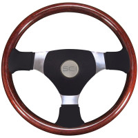 "Overland Sport 3 16"" Steering Wheel Wood & Poly"