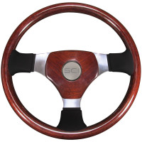 "Overland Exclusive 3 Mahogany 16"" Steering Wheel Wood & Leather"