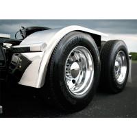 "Hogebuilt Stainless Steel 68"" Half Tandem Fenders On Truck Close Up"