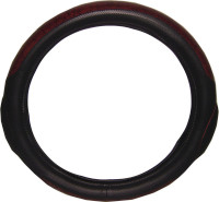 """20"""" Wood Style With Black Grips Steering Wheel Cover"""