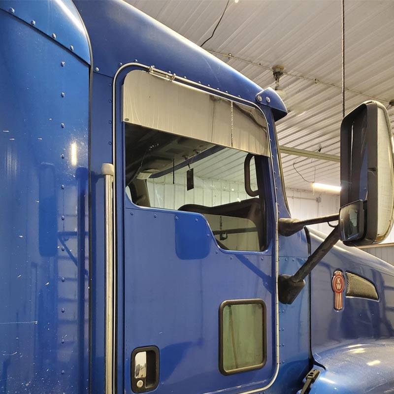 """Kenworth T600 T660 T800 W900 8"""" Monster Chop Top Door Trim On Truck 2"""