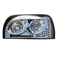 Freightliner Century Headlights With LED Turn Signal & Running Light - Front