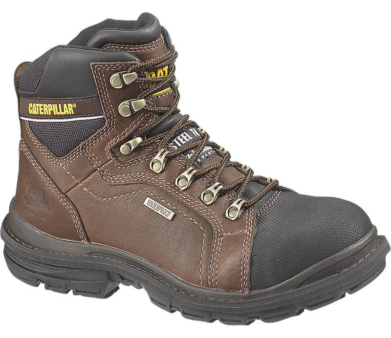 """Flexion Manifold 6"""" Waterproof Steel Toe Tough Trucker CAT Work Boots"""