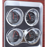 Kenworth Small Chrome Gauge Cover With Visor 06+