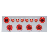 Stainless Rear Center Panel With Red Halo LEDs & Red Lens