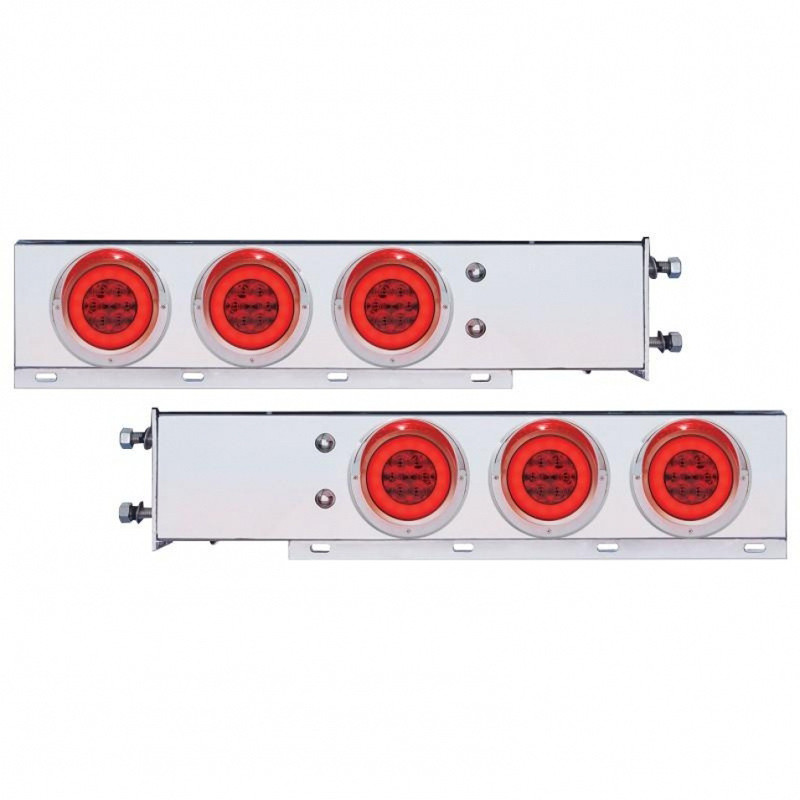 Mud Flap Hangers With Red GLO Halo LED Lights