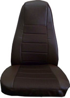 Brown Vinyl Seat Cover With Fabric & Pocket