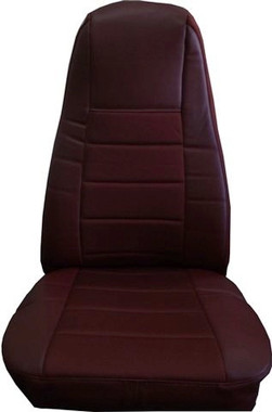 Burgandy Vinyl Seat Cover With Fabric Amp Pocket Raney S