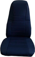 Dark Blue Vinyl Seat Cover With Fabric & Pocket