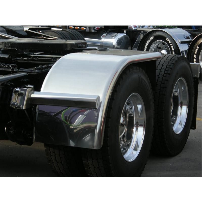 "Value Line Hogebuilt Stainless Steel 68"" Half Tandem Fenders On Truck"