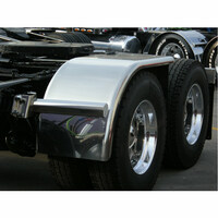 "Value Line Hogebuilt Stainless Steel 68"" Half Tandem Fenders On Truck"