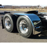 "Value Line Hogebuilt Stainless Steel 72"" Half Tandem Low Rider Fenders On Truck"