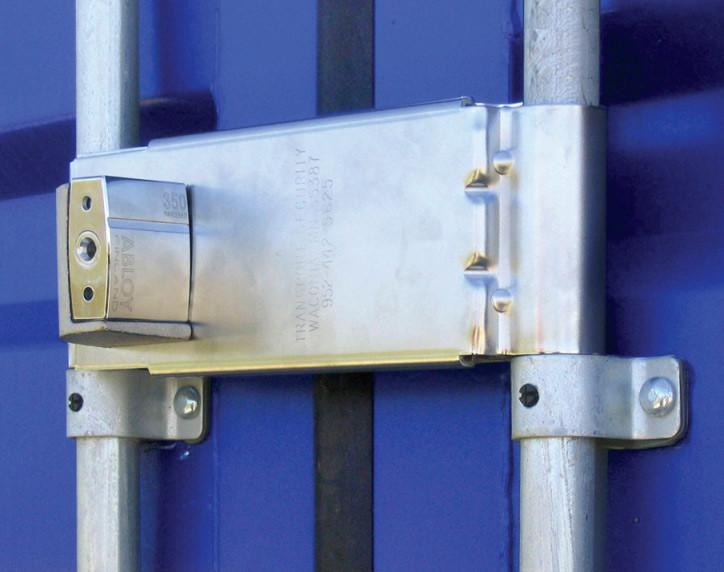 The Enforcer Adjustable Door Lock On Trailer