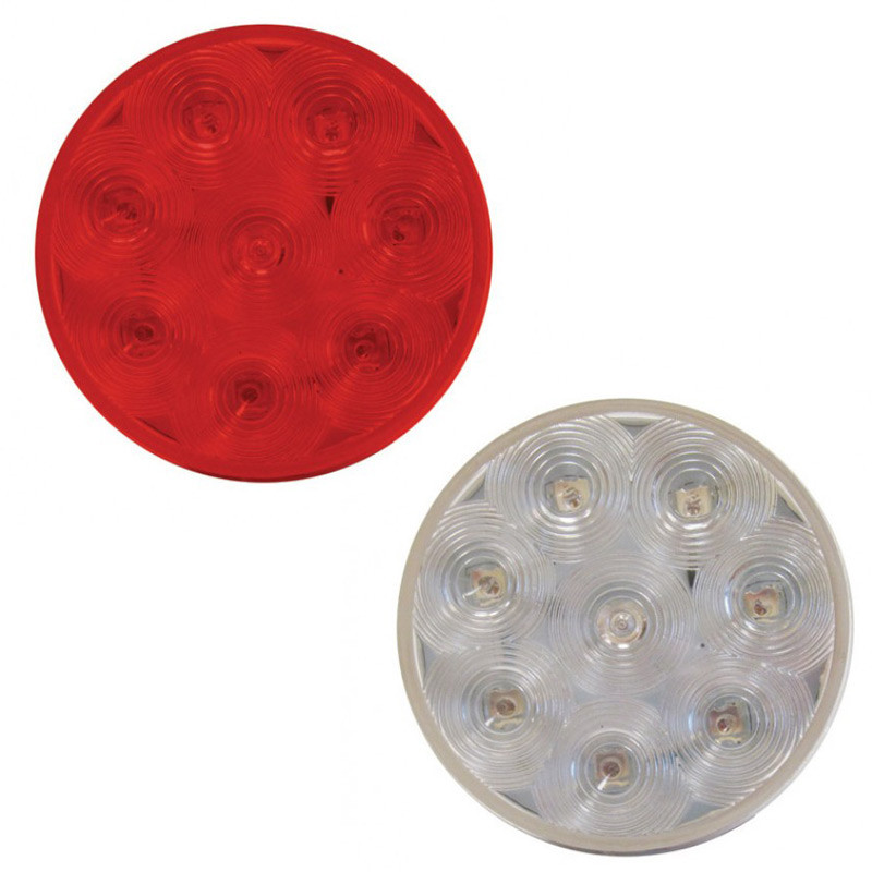 "4"" Red Economy Stop Turn & Tail 8 Diode LED Light"