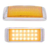 Amber LED Flush Mount STT & PTC Light With Bezel