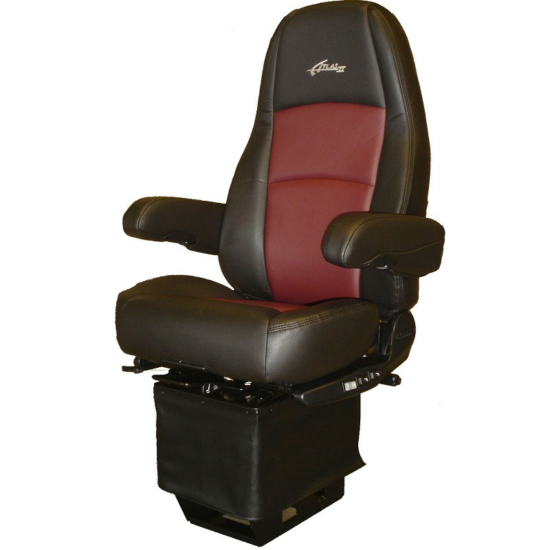 Sears Atlas Ii Dlx Seat Highback Black Amp Red Leather With