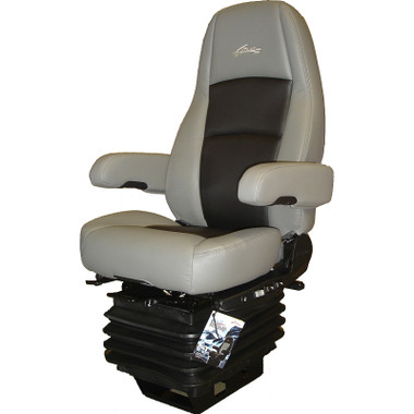 Sears Atlas Ii Dlx Seat Highback Grey Amp Black Leather With