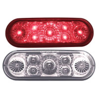 7 LED Oval STT & PTC Light Amber Red and Clear