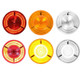 """4"""" Round LED Prime STT Sealed Light Red Lens"""