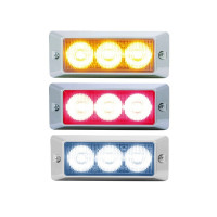 LED Strobe Warning Light With Chrome Bezel