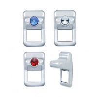 Volvo Chrome Toggle Switch Gauge Cover - All Styles
