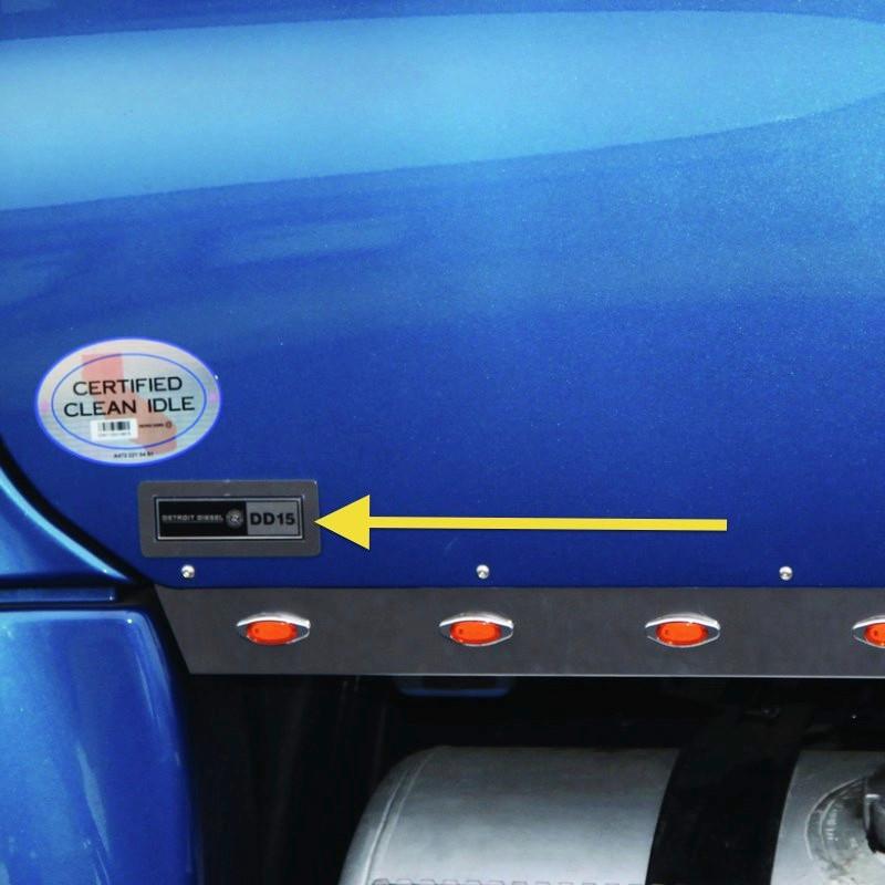 Freightliner Cascadia Engine Logo Trim