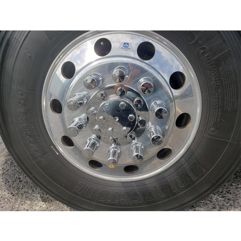 Lifetime Front Hub Cover Axle Assembly On Truck Front View