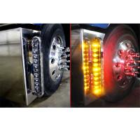Chrome Slim Line Bumper Bracket Lights On Truck