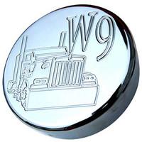 Chrome Kenworth W9 Fuel Cap Cover